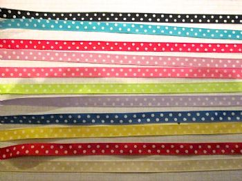 Polka Dot satin ribbon 10mm   Choice of colour.
